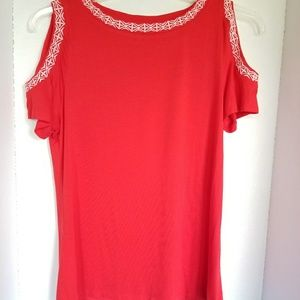 Liz Claiborne Red Tank Size Medium